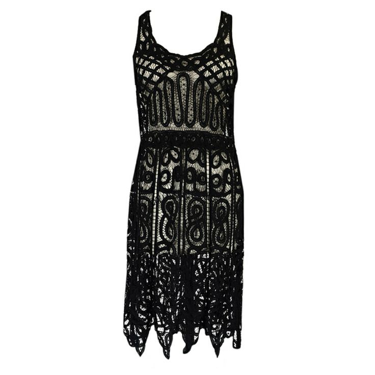 1920s Lace Beaded Flapper Dress Fmag