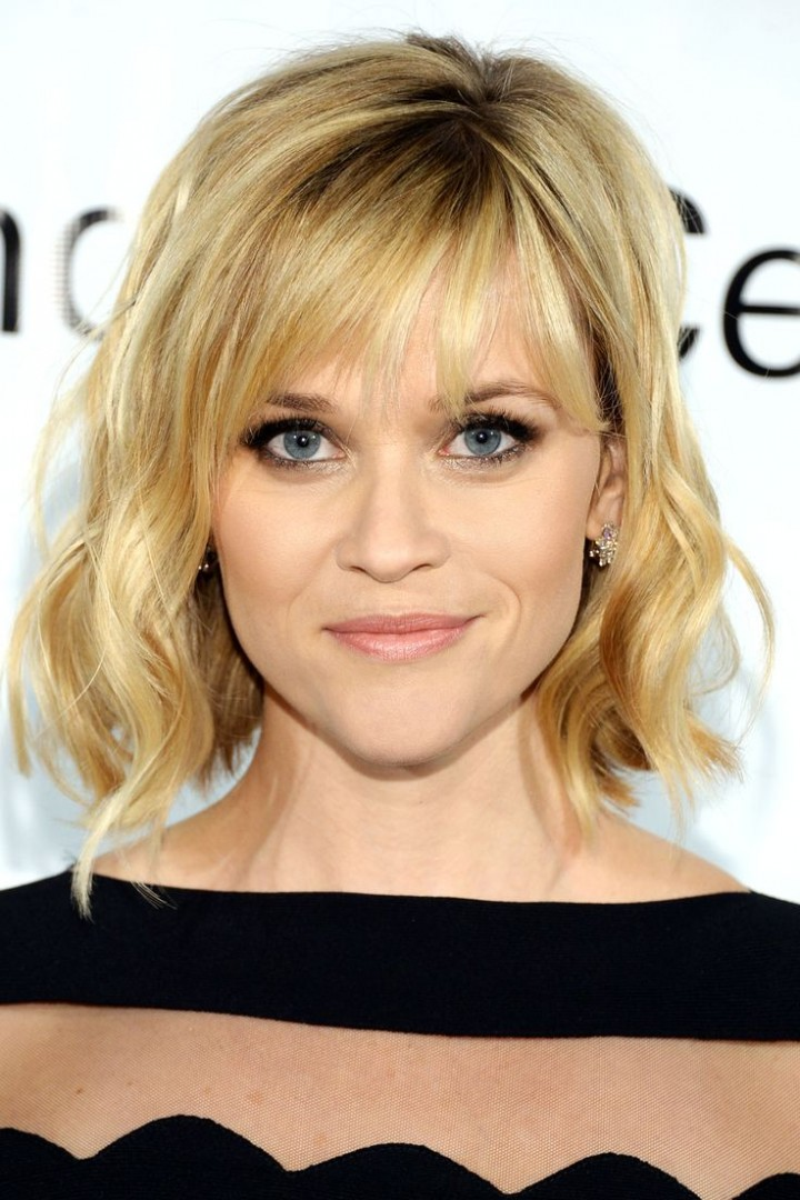 Reese Witherspoon A Line Bob And Bangs Fmag Com