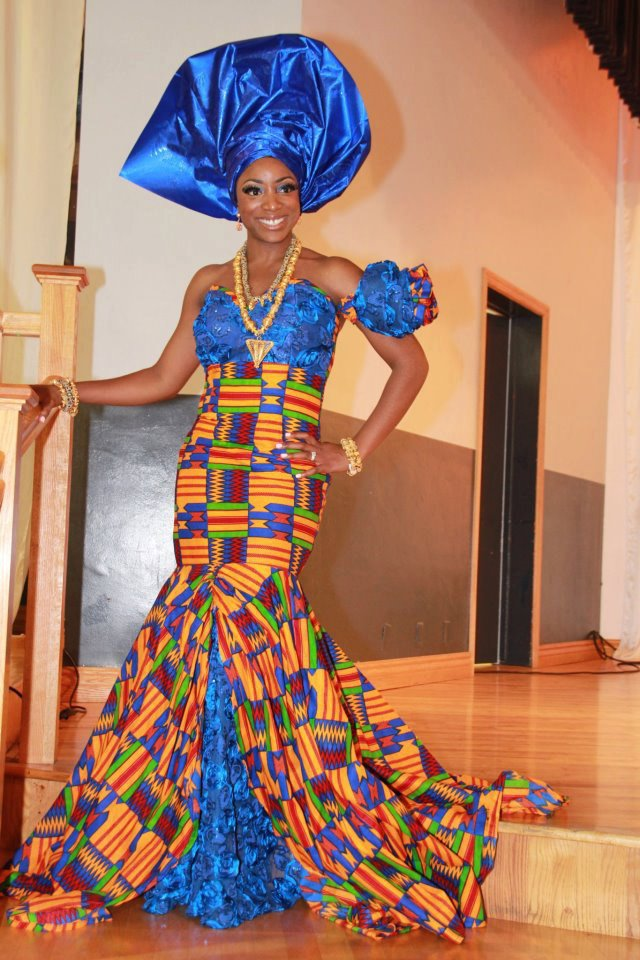 Fashionable elegant traditional African clothing for women