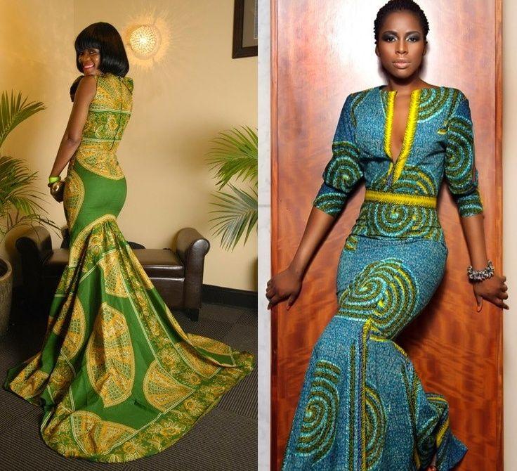 African Wedding Dress Print Mix Fmag