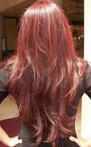Fine Long Layered Red Hair Fmag Com