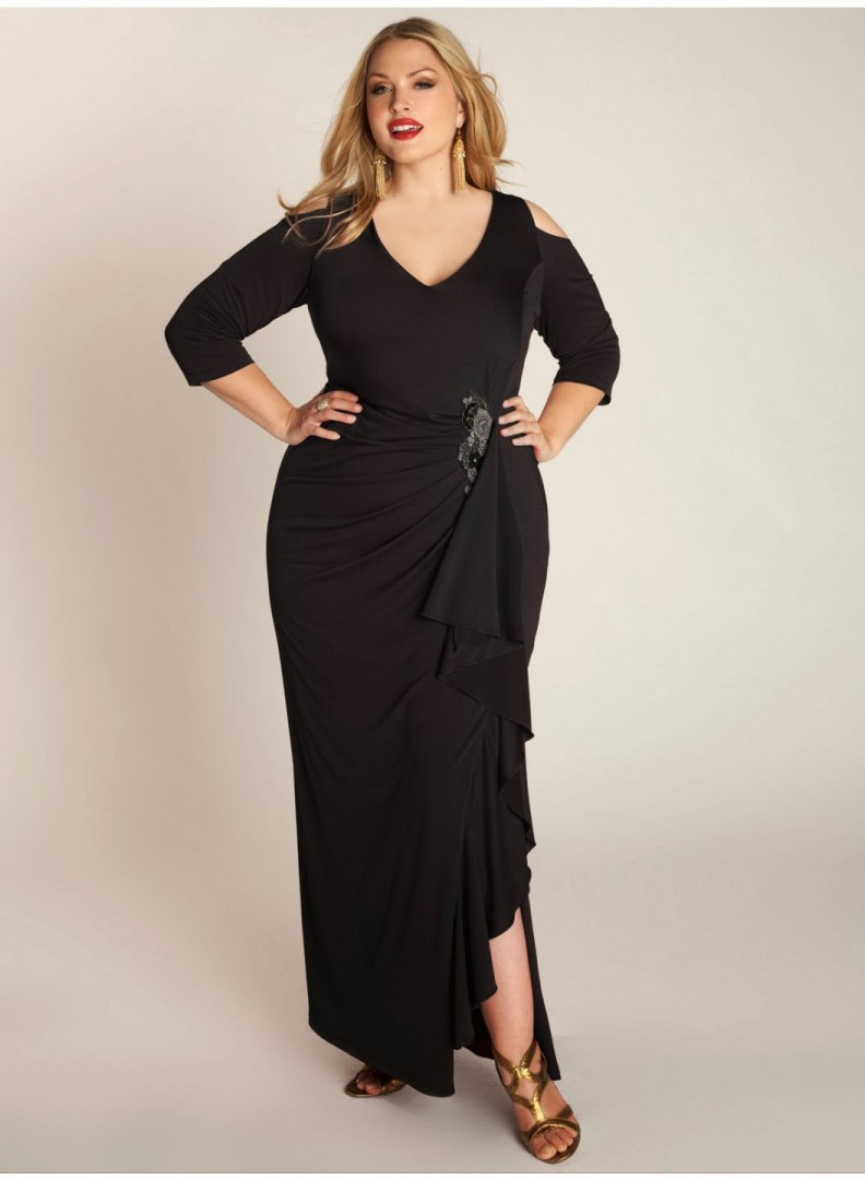 499020d2e3f plus size asymmetrical maxi dress - FMag.com