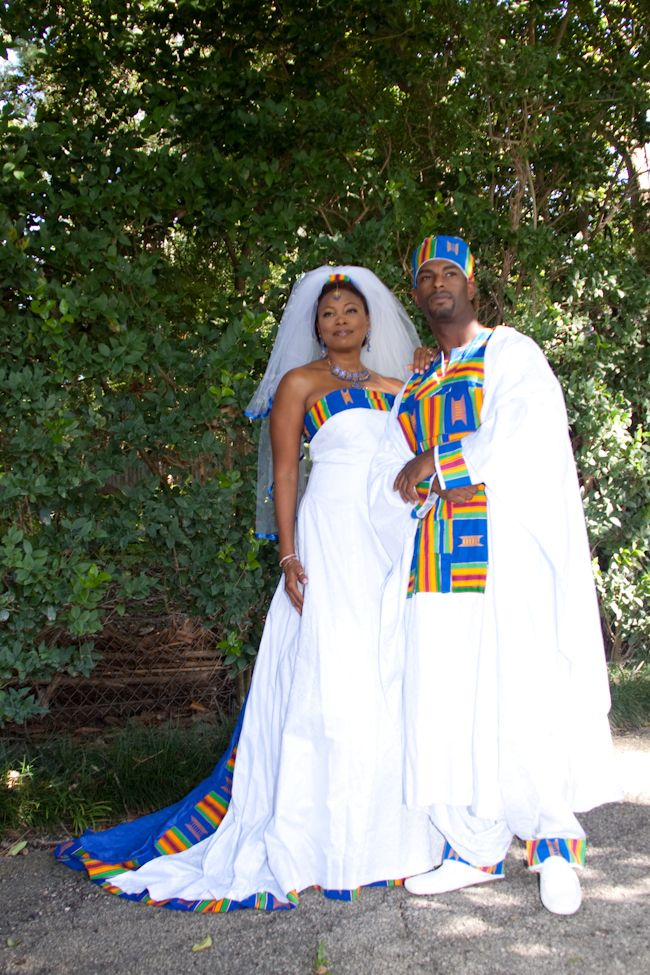 Traditional blue african wedding dress for Nigerian traditional wedding dresses pictures