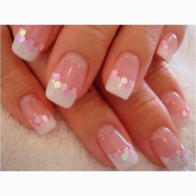 pink and white gel nails , FMag.com