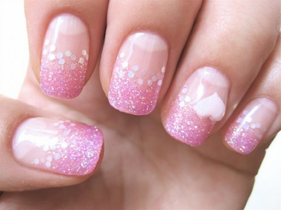 Luxurious Pink And White Nails Fmag