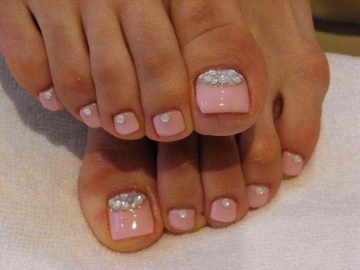 baby pink toe nail design - Baby Pink Toe Nail Design - FMag.com