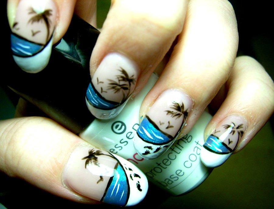 Рисунки морская тематика на ногтях