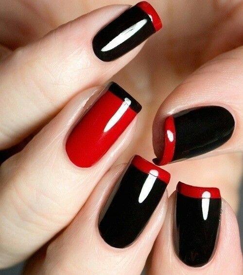 black and red nail design - Black And Red Nail Design - FMag.com