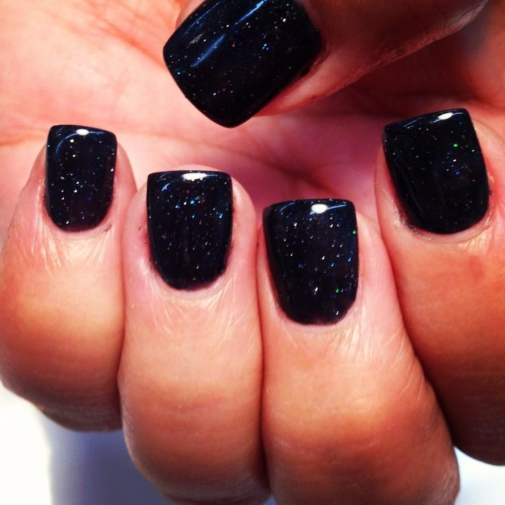 Black Sparkle Acrylic Nails Fmag Com