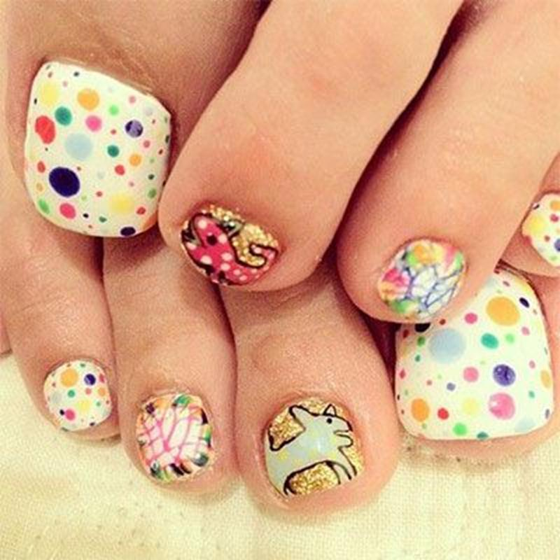 Creative toe nail design creative toe nail art designs and ideas amazing and creative toe nail art ideas for summer view images prinsesfo Image collections