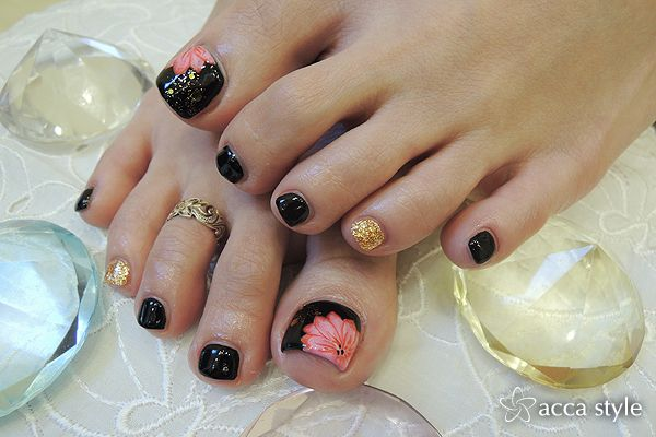Cute Pink Black Flower Design Fmag