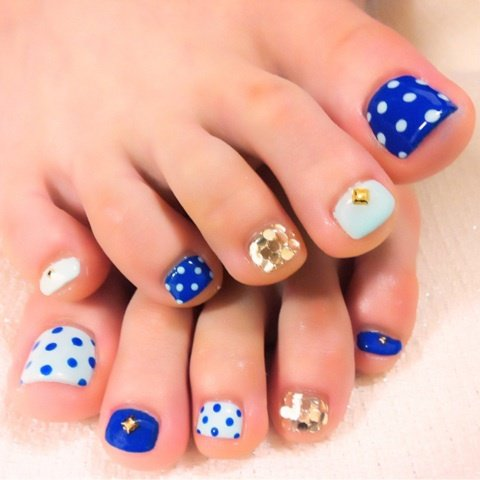 Cute Toe Nail Design Polkadots Fmag
