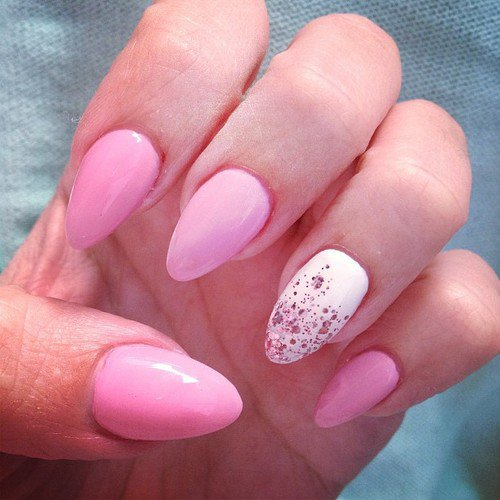 Simple nail designs pink : Easy pink nail designs fmag