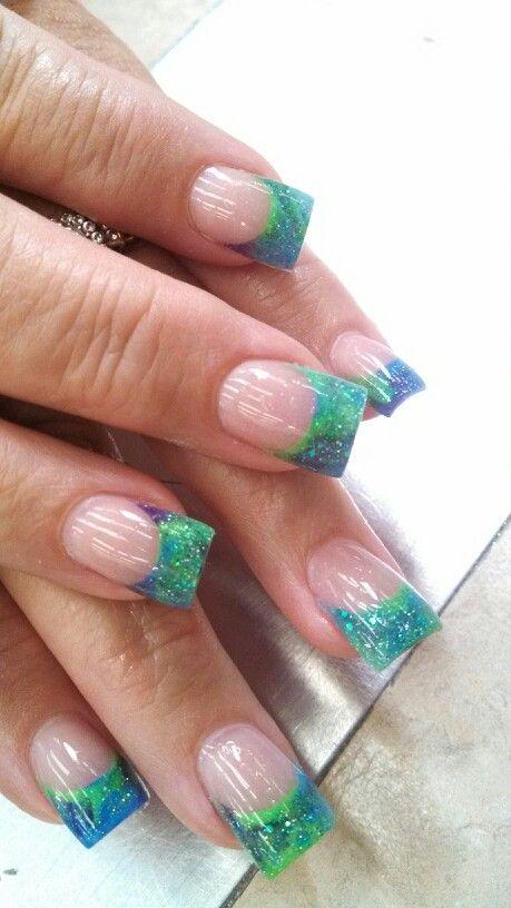 green tips acrylics - fmag.com