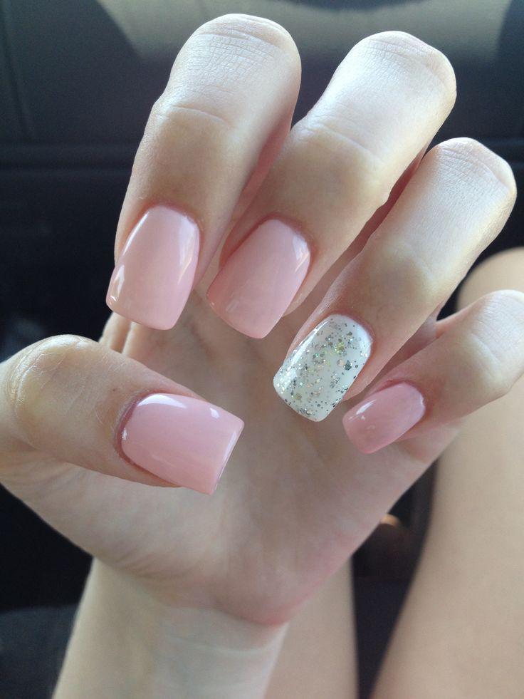 Light Pink Glitter Acrylics Fmag Com