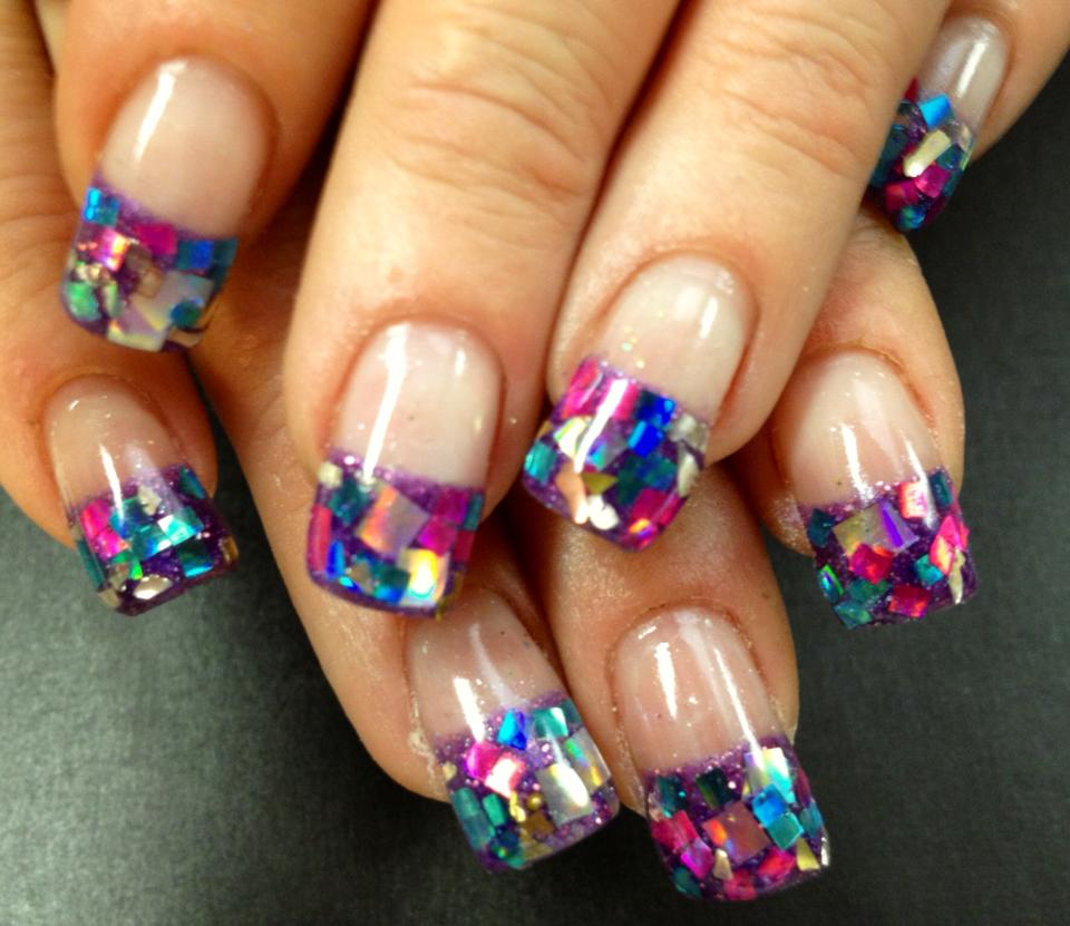Watch How to Do a Multicolored French Manicure video