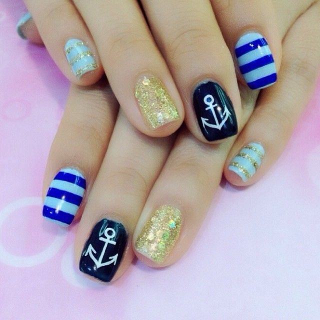 nautical unique nail designs mix - FMag.com