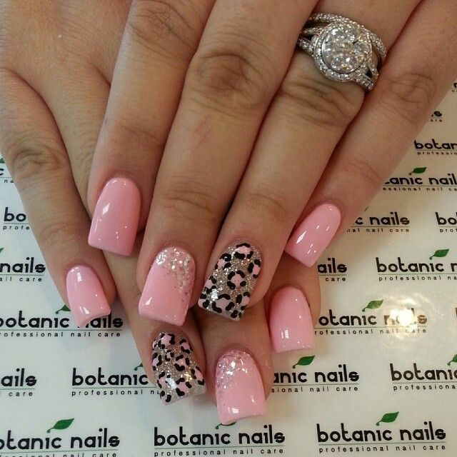 Pink Cheetah Acrylic Nails Fmag
