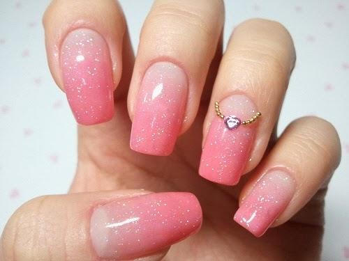 pink gel nails - Pink Gel Nails - FMag.com