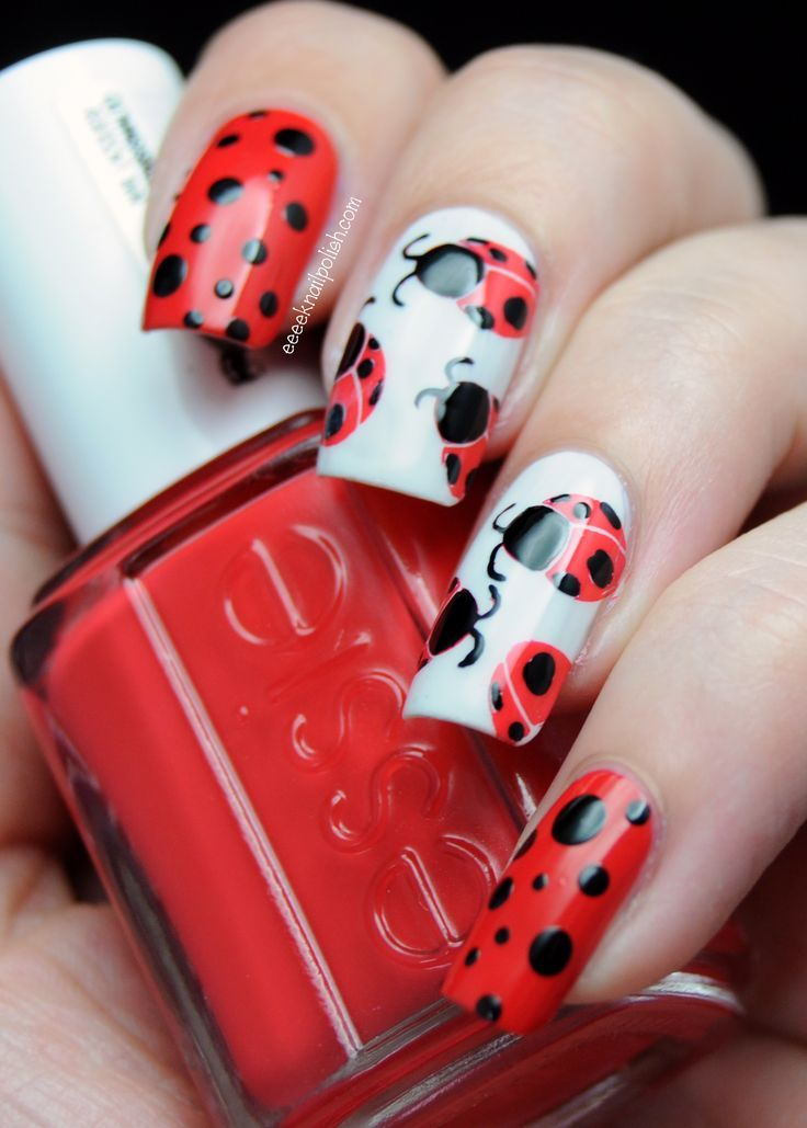 red ladybird nails - FMag.com