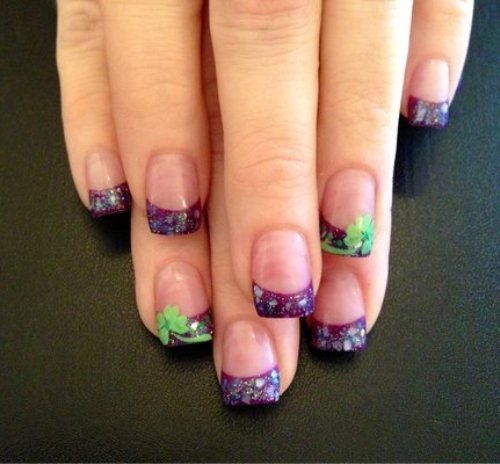 Color Solar Nails Solar Nails Colorful Tips