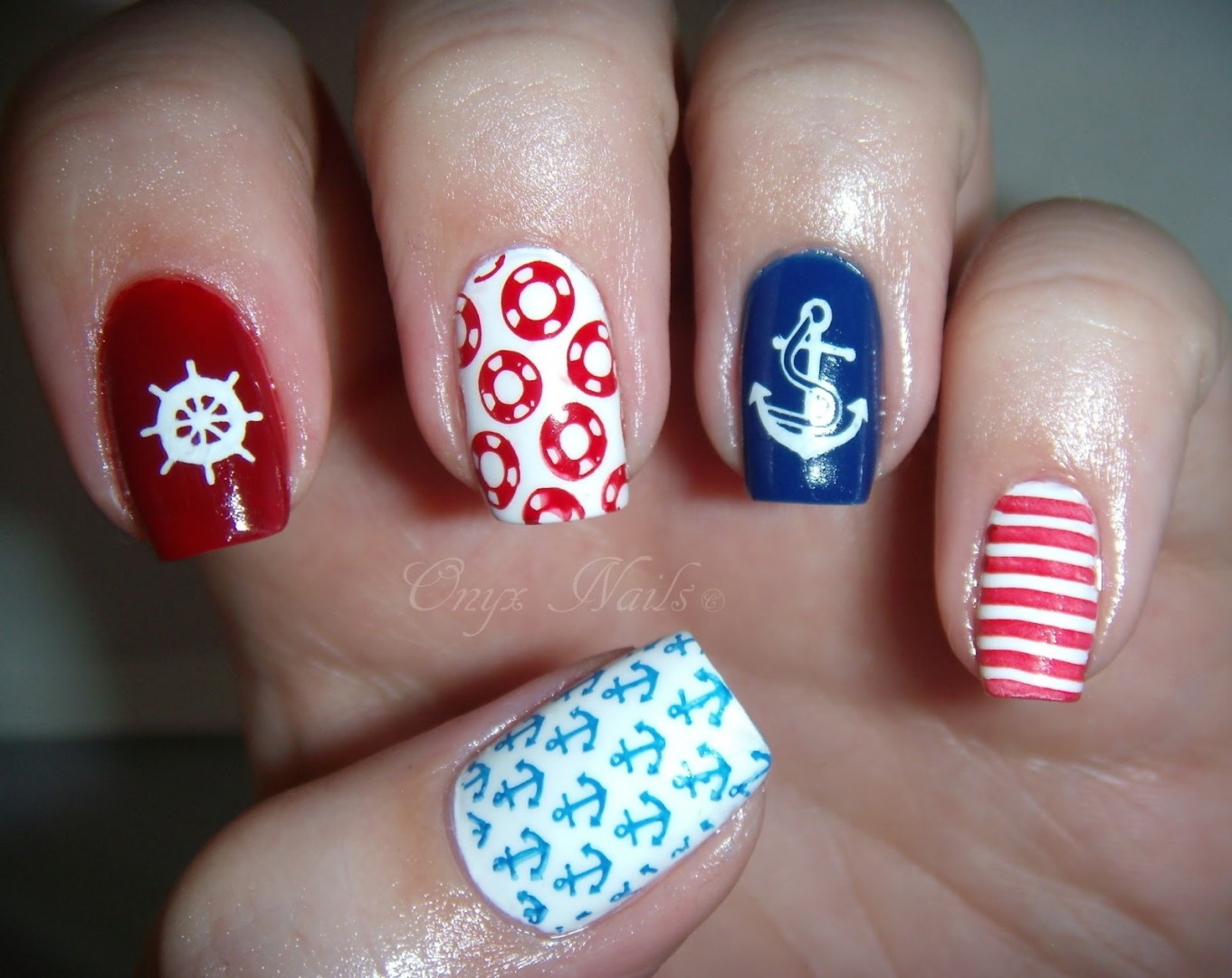 unique nail designs nautical nail art - Unique Nail Designs Nautical Nail Art - FMag.com