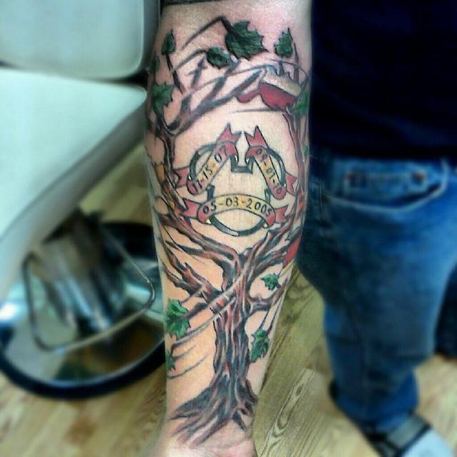 Family tree tattoo on arm - FMag.com