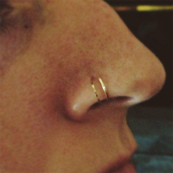 cute double nose ring loop - fmag.com