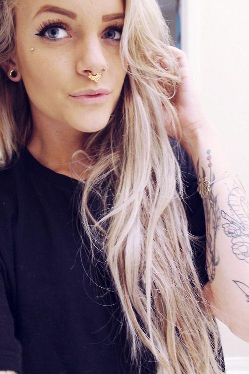 Cute Nose Piercings Cute Girl Septum Ring Fmag Com