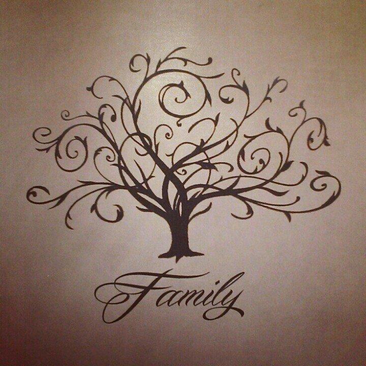 swirly family tree tattoo. Black Bedroom Furniture Sets. Home Design Ideas