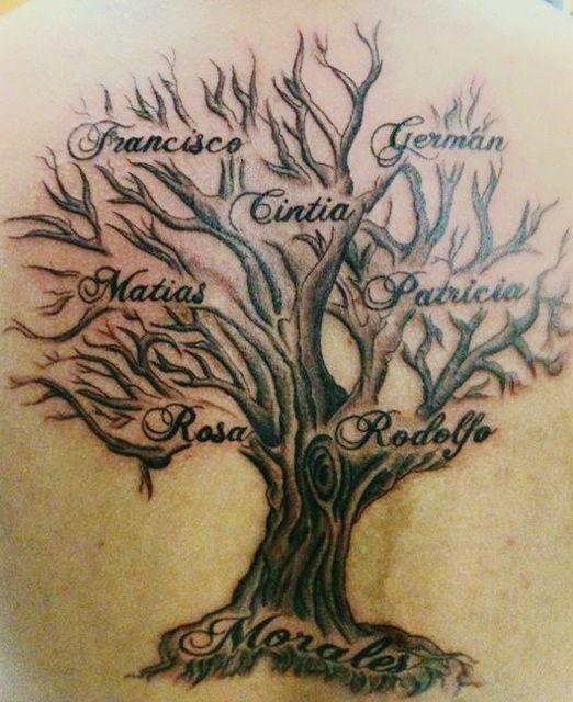 family tree tattoo. Black Bedroom Furniture Sets. Home Design Ideas