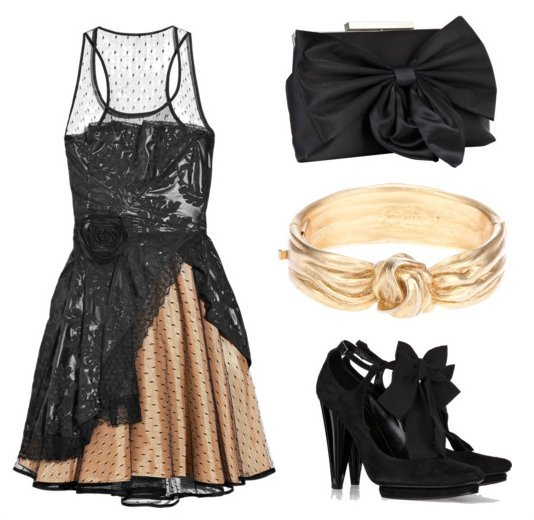 Best accessories for black cocktail dress
