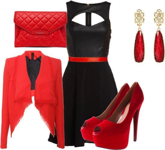 combination of clothes fashion accessorize clothes black