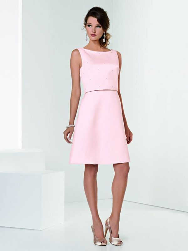Crystal Satin dress with A-line skirt - fmag.com