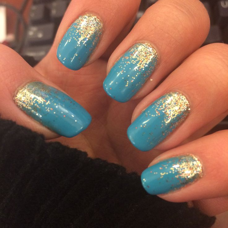 Turquoise And Gold Nails Fmag Com