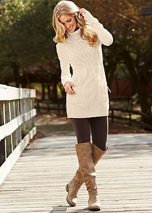Sweater Dress to Wear with Leggings