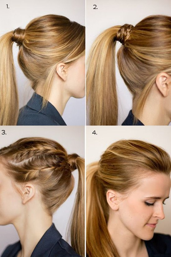 different ponytail styles for medium hair chic ponytail hairstyles for medium length hair fmag 8241