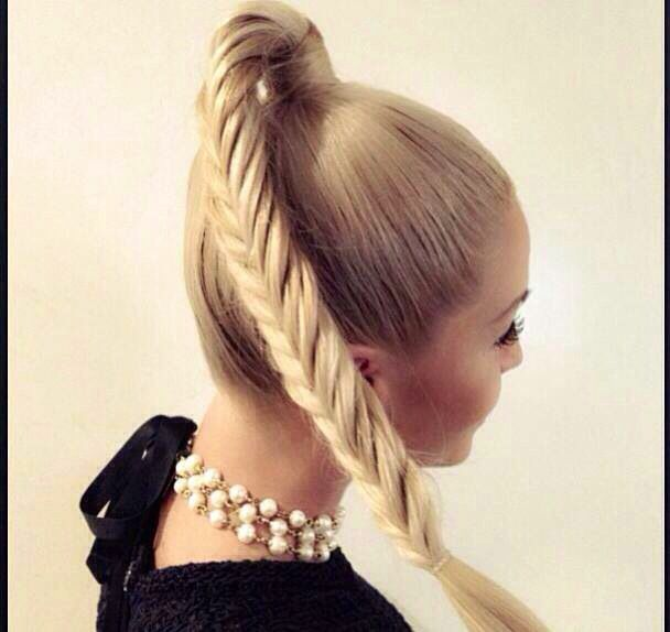 French Braid High Ponytail For Long Hair Fmag Com
