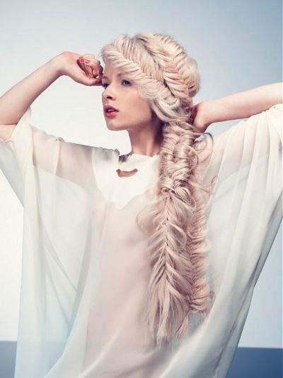 Multi Fishtail Braid Ponytail For Long Hair