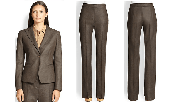 Brown Women's Silk Suit - fmag.com