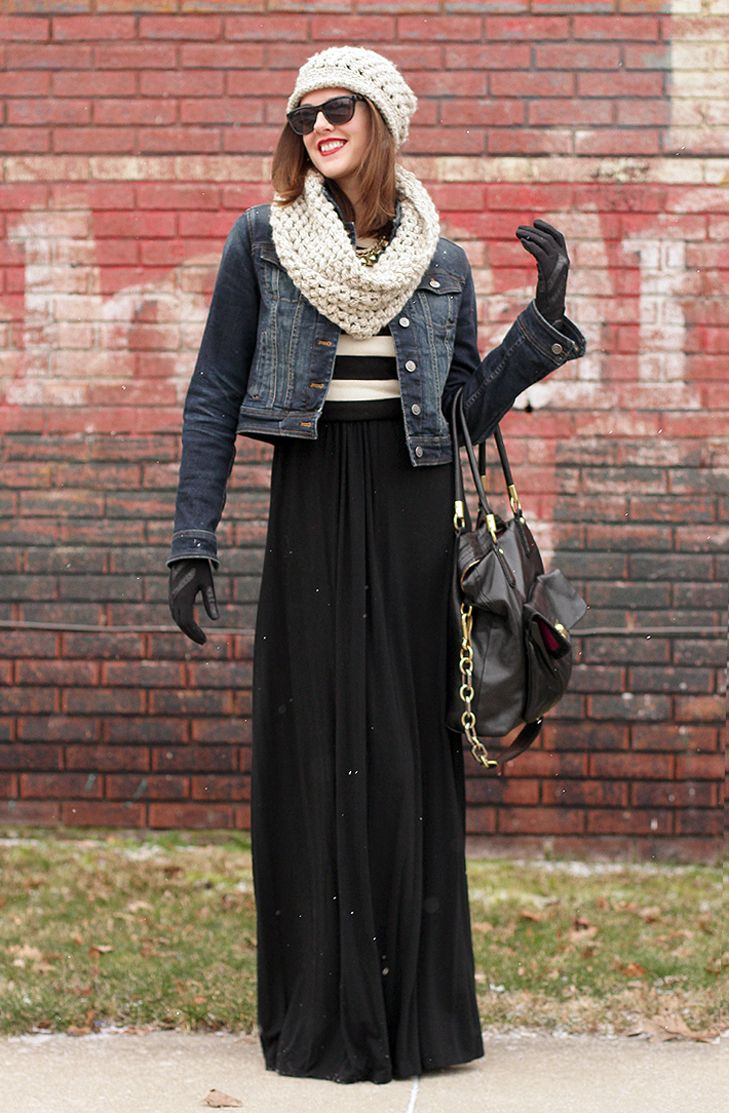cf2bfa4c82 Winter maxi skirt outfit - FMag.com