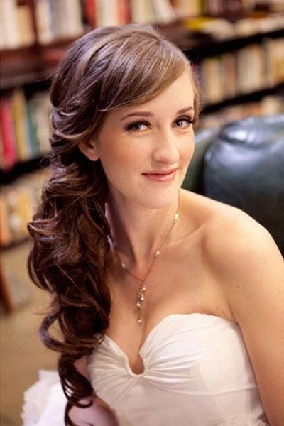 Elegant Side Ponytail Hairstyle for Wedding - FMag.com
