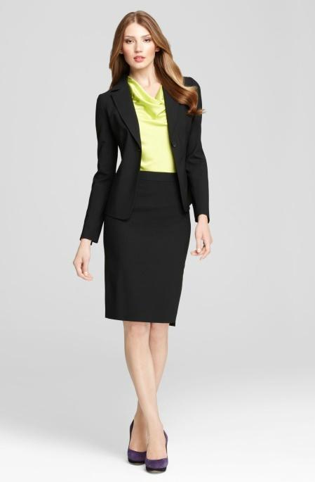 black pencil skirt with blazer fmag