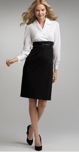 9cd666b27 Long Sleeve Belted High Waist Black Pencil Skirt - FMag.com