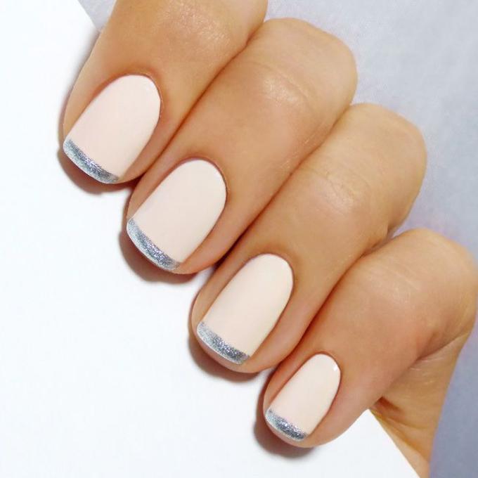 Metallic Nail Polish Blush Pink French Manicure - FMag.com