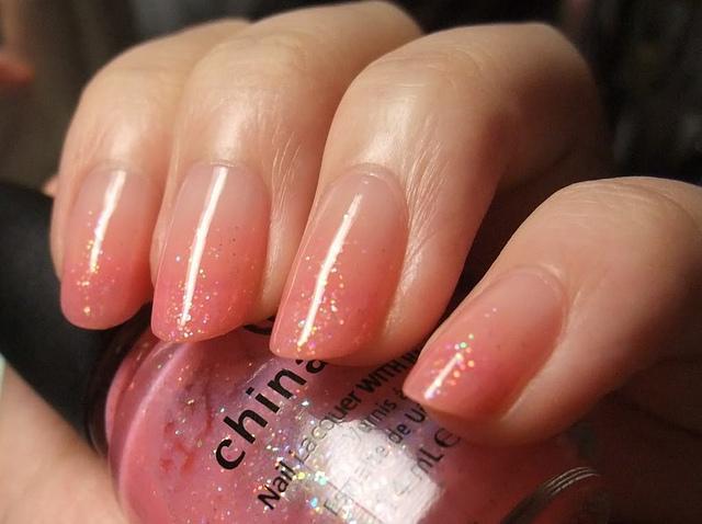 Peach To Clear Gradient Nails Fmag Com