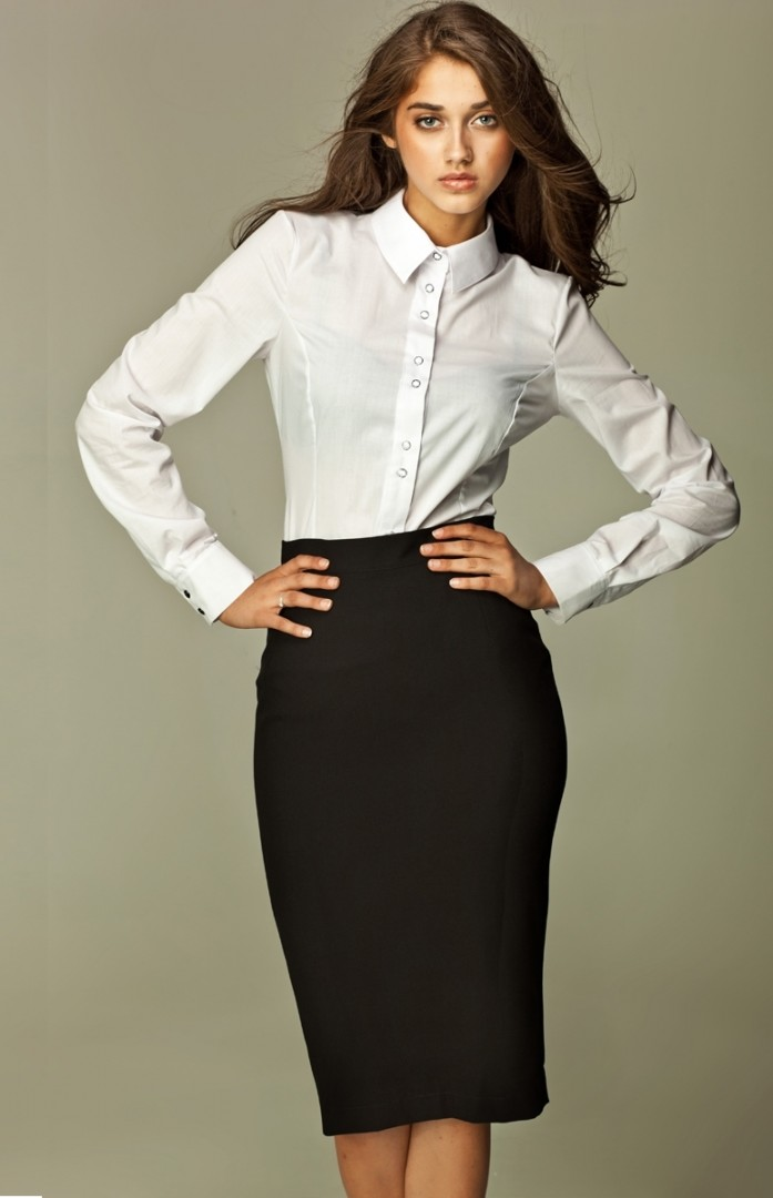 Professional Look Black Pencil Skirt Fmag Com