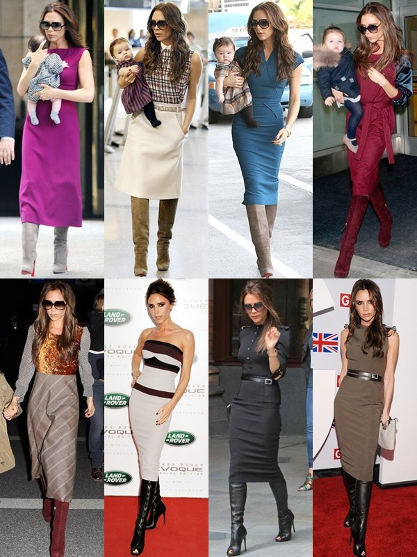 beckham knee high boots and pencil skirts fmag