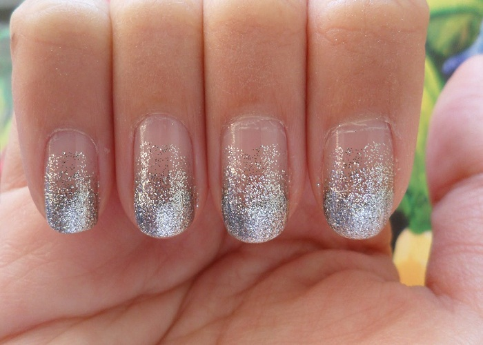 White Glitter Ombre Nails - FMag.com