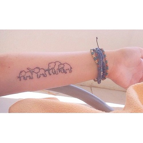 85 beautiful elephant tattoos and their meanings for Small cute tattoo